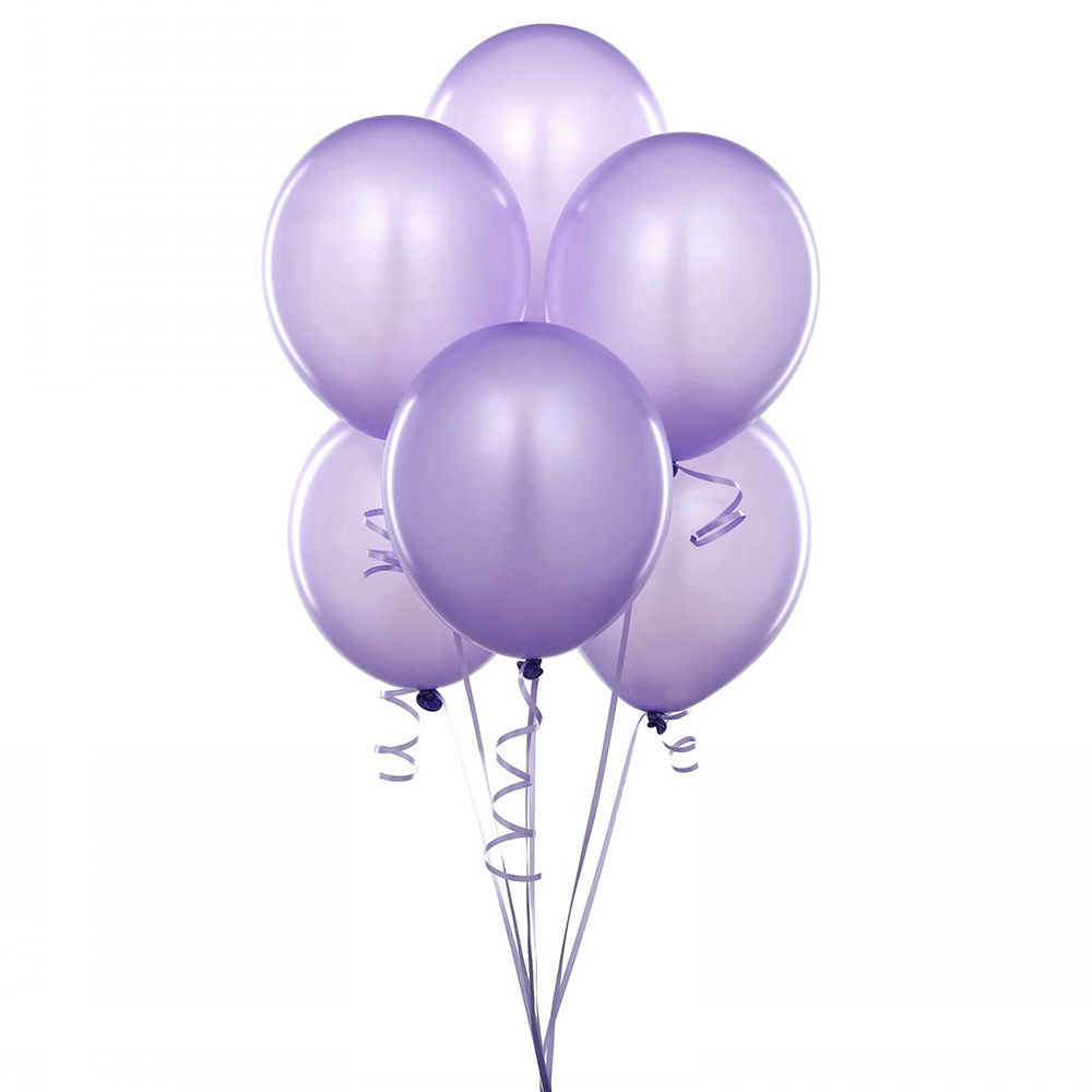 "24 Latex Balloons 12"" When Inflated Solid Colors - Lavender"
