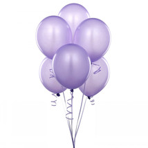 "24 Latex Balloons 12"" When Inflated Solid Colors - Lavender - $2.96"