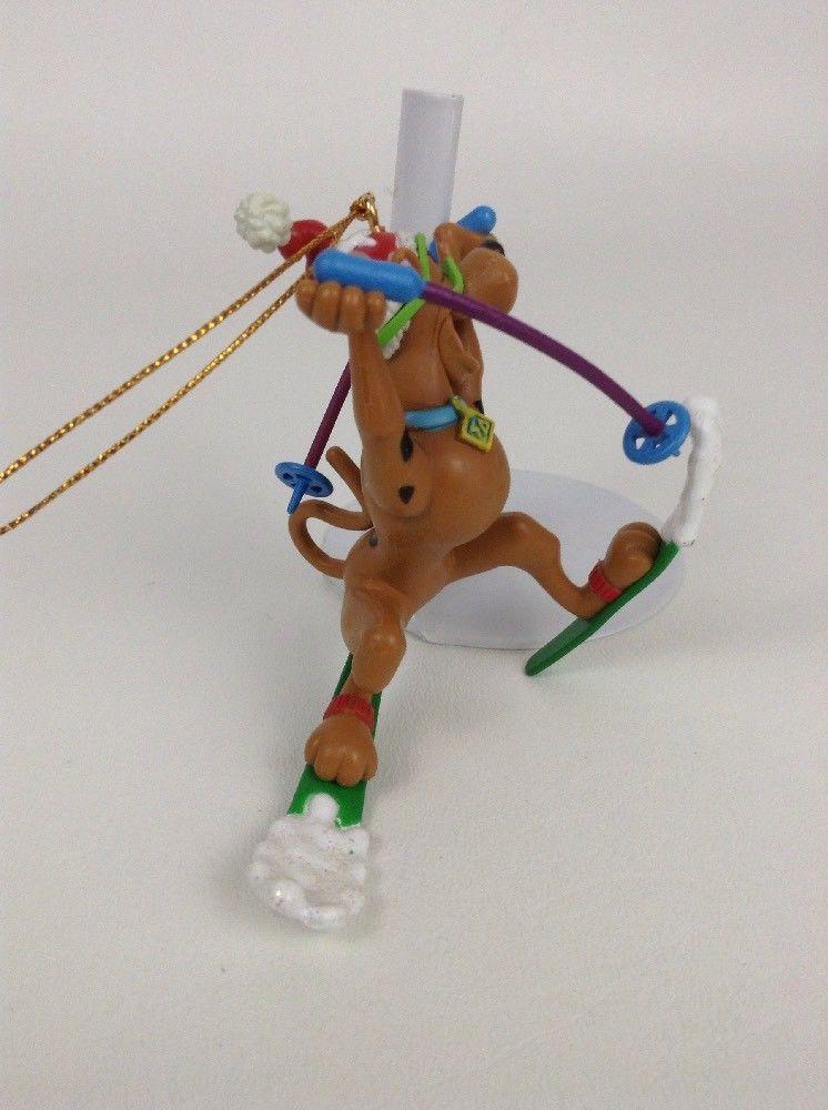 Christmas Ornament Hanna Barbara Scooby Doo skiing 1999 Dog