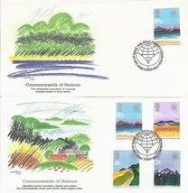 6 Fdc 1983 Commonwealth Nations Continents Arctic Cold High Heat Oc EAN PEOPLE224 - $13.86