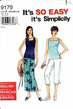 Simplicity 9179 Pattern Misses' Skirt, Capri Pants and Knit Tank Top Siz... - $7.91