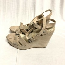 Bcbg Maxazria Shoes Canvas Pumps Sandals Wedge Sand : 9/39 - $17.75