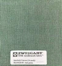 Interlock Needlepoint Canvas 14 Mesh Teal Green   Custom Cuts   Blank Canvas  - $7.13+