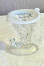 Fenton Crystal Opalescent Cornucopia Hobnail Vase - $8.00