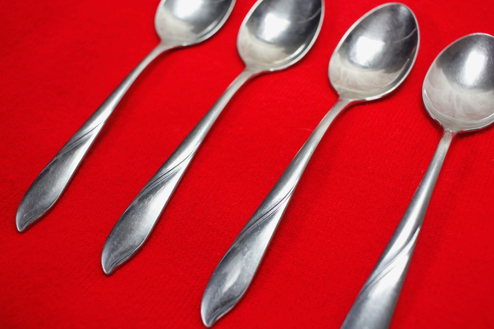 "4X Teaspoons Spoons Gorham Silver Lisa Stainless Glossy Flatware 6"" Tea Spoon"