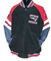 NFL New England Patriots Super Bowl Champions Suede Leather Jacket BRAND... - $173.25