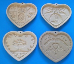 4 Pampered Chef Cookie Molds -Sweet Heart, Come to the Table, Hospitalit... - $25.50