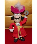"Disney Neverland Peter Pan Pirates Plush 12"" Talking Handsome Captain Hook - $9.59"