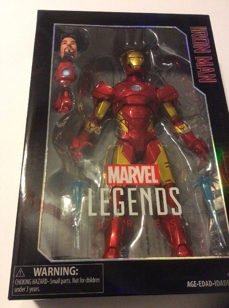 "IRON MAN Hasbro Marvel Legends 12"" Collector Series Action Figure Nib New"