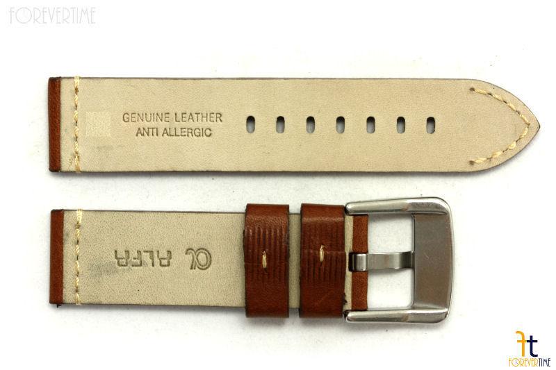 20mm Marrón Cuero Liso Correa para Reloj de Pulsera para Luminox Anti-allergic