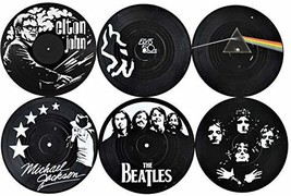Our Casa Coasters For Drinks | Home Decor Music Coaster (6-Piece Set) Wi... - $18.96