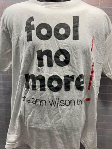 The Ann Wilson Think Fool No More Herz T-Shirt Herren Größe XL