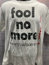 The Ann Wilson Think Fool No More Herz T-Shirt Herren Größe XL - $31.18