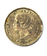 1901 Canada 5 Five Cents Silver Half Dime KM# 2 - €17,40 EUR