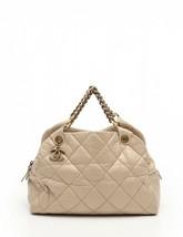 Chanel Auth handbag shoulder bag Matorasse light beige leather 2WAY - $1,945.49
