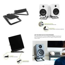Kanto S4 Desktop Speaker Stands for Midsize Speakers, Black - $55.85