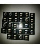 1992 Battle Masters Board Game Skull Tiles(28)  - $9.49