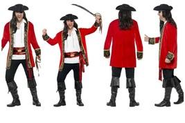 Mens *Plus Size* Pirate Captain Fancy Dress Jack Sparrow Caribbean High Seas Fun - $52.95