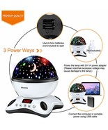 Night Light Projector Remote Control and Timer Design Projection lamp So... - $44.32