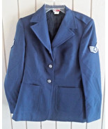 Vintage USAF Air Force Women's Dress Uniform Jacket Coat Reg 10 Wing Pat... - $14.25
