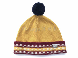 Diesel Jeans Yellow/ Red Navy Blue Bubble Pom Roll Up Beanie Hat Cap Woo... - $29.99