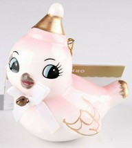 2018 Target Wondershop Retro Pink Gold Ceramic Bird Christmas Ornament New wTag