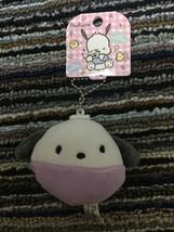 NEW Sanrio Pochacco Mini Keyholder with Tag Plush Keychain Round Gift CU... - $5.00