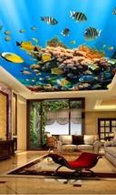 3D Blue Sea Fish Ceiling WallPaper Murals Wall Print Decal Deco AJ WALLP... - $34.47+