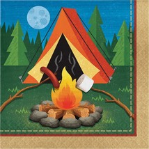 Camp Out 16 Ct Luncheon Napkins Birthday Party Campfire Camping - $4.39