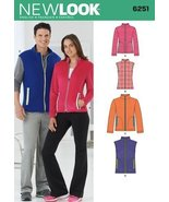 New Look Sewing Pattern 6251 - Misses Tops & Coats Sizes: (8 -18 / XS -X... - $16.17