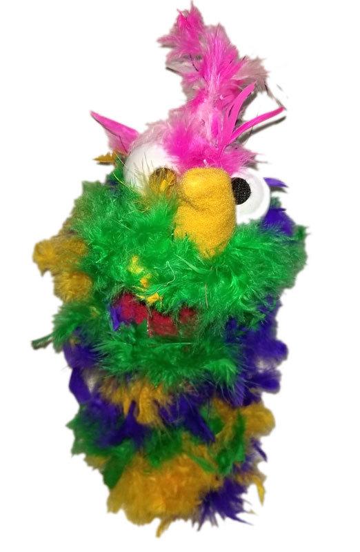 "C18 * Deluxe Custom ""Rainbow / Pink Top Bird""  Sock Puppet * Custom Made"