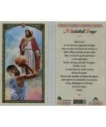 A Basketball Players Laminated Prayer Card - Item EB919 - Catholic Lamin... - $2.23