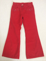 Gymboree Cupcake Cutie 7 Red Glitter Sparkle Corduroy Beaded Sprinkle Pa... - $7.99