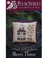Merry Three Bowl Full of Merries CHART ONLY cross stitch Plum Street Sam... - $9.00