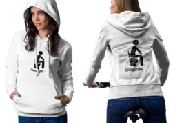 download toilet Womens White Classic Hoodie - $30.99+