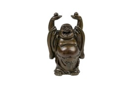 "Beautiful Dark Bronze Buddah Buddha Figurine 3"" - $39.59"