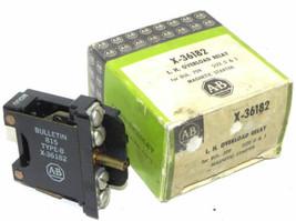LOT OF 2 NIB ALLEN BRADLEY X-36182 L.H. OVERLOAD RELAYS, X36182