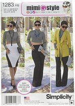 SIMPLICITY US1283H5 Misses' Unlined Jacket Knit Top Pants and Skirt Sewing Templ - $13.23
