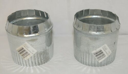 IMPERIAL GVL0059 Two 4 Inch Galvanized Steel Round Storm Duct Starting Collars