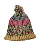Unisex Handmade 100% Wool Knit Winter Beanie Hat Pastels - $21.83