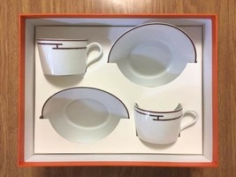 Hermes Porcelaine Cup Saucer Rythme Red 2 Set Vaisselle Ornement Neuf Th... - $293.10