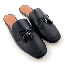 Coach Tassel Slide Black Loafers Nib - $69.99
