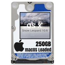 macOS Mac OS X 10.6 Snow Leopard Preloaded on 250GB Sata HDD - $24.99