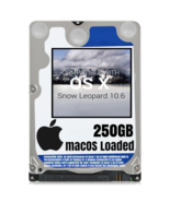 macOS Mac OS X 10.6 Snow Leopard Preloaded on 250GB Sata HDD - $24.99