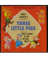 Walt Disney's Story of the Three Little Pigs (Disneyland Record and Book... - £3.20 GBP