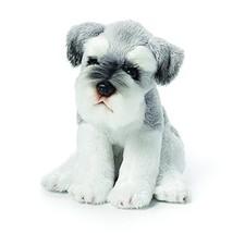 DEMDACO Schnauzer Children's Plush Beanbag Stuffed Animal Toy, Light Grey - $17.41