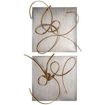 Uttermost 7071 Harmony Metal Wall Art (Set of 2), Gold - €338,58 EUR