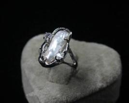 natural white freshwater pearl women ring top q... - $3.61