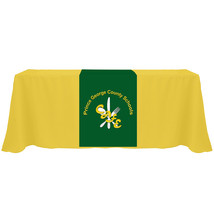Customized Table Runners 2' x 6' Free Design with 9.0 oz Advertise your business image 3