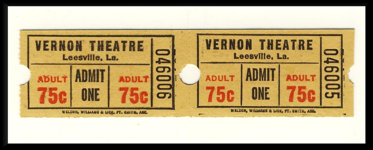 Vernon tickets 2 75 cents